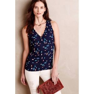 Maeve Terrapin Turtle Print Scalloped Tank Blouse